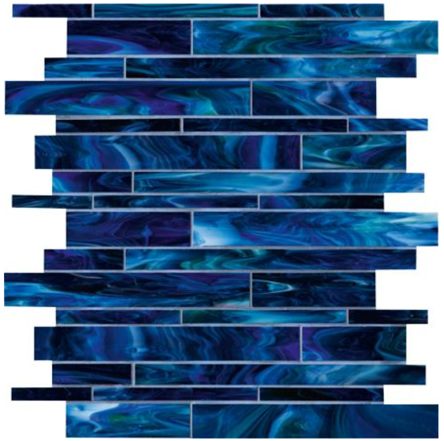 Catwalk Blue Ballet Glass Mosaic