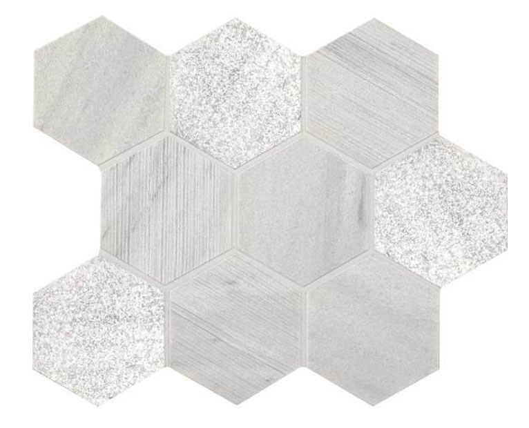 Candid Heather Hexagon Stone Mosaic