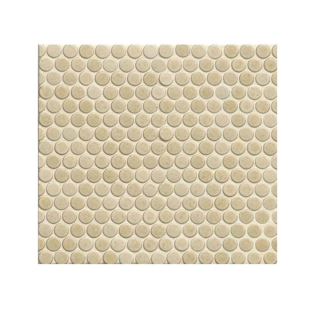"360 3/4"" x 3/4"" Floor and Wall Penny Round Mosaic in Beige"