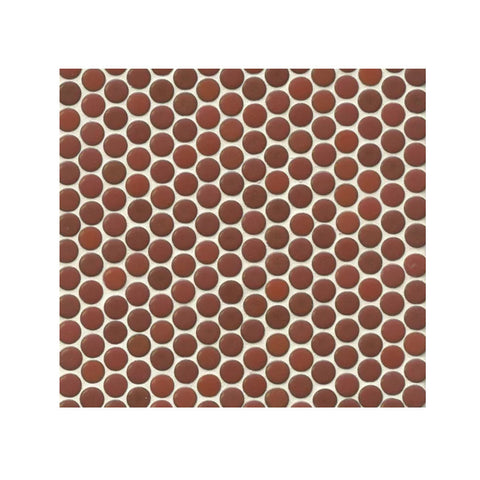 "360 3/4"" x 3/4"" Floor and Wall Penny Round Mosaic in Cardinal"