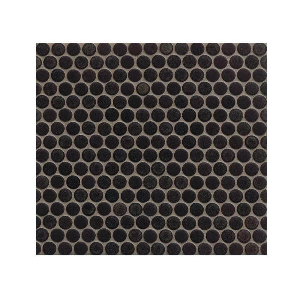 "360 3/4"" x 3/4"" Floor and Wall Penny Round Mosaic in Charcoal"