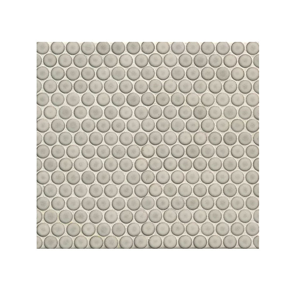 "360 3/4"" x 3/4"" Floor and Wall Penny Round Mosaic in Dove Grey"