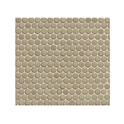 "360 3/4"" x 3/4"" Floor and Wall Penny Round Mosaic in Pumice"