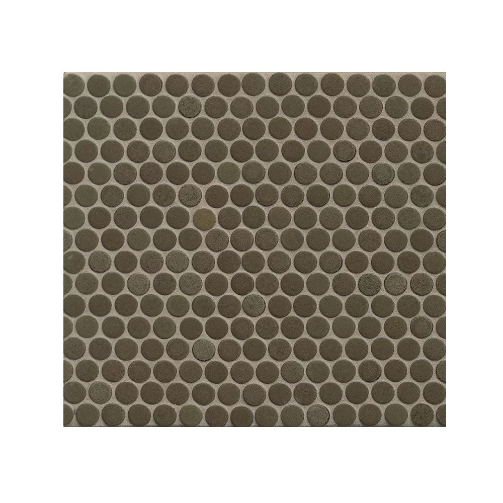 "360 3/4"" x 3/4"" Floor and Wall Penny Round Mosaic in Shale"