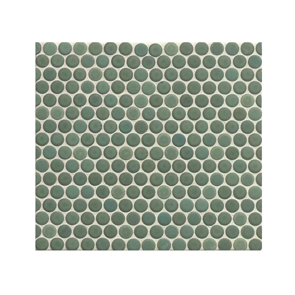 "360 3/4"" x 3/4"" Floor and Wall Penny Round Mosaic in Silver Sage"
