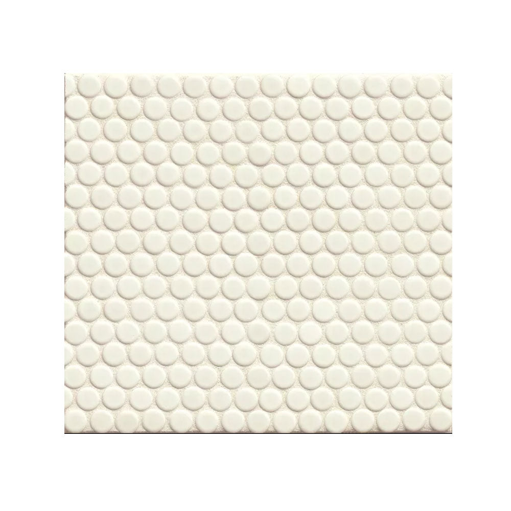 "360 3/4"" x 3/4"" Floor and Wall Penny Round Mosaic in White Matte"