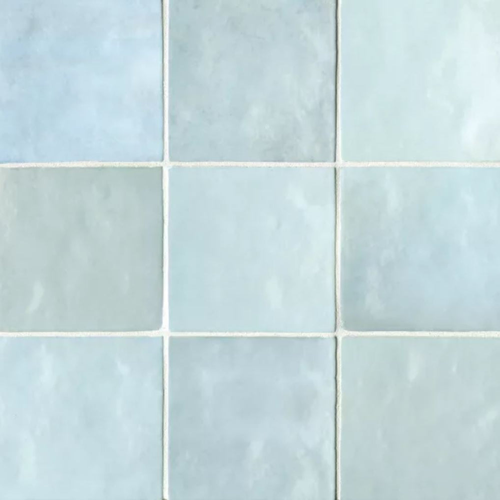 "Ceramic Cloe 5"" x 5"" Wall Tile in Baby Blue"