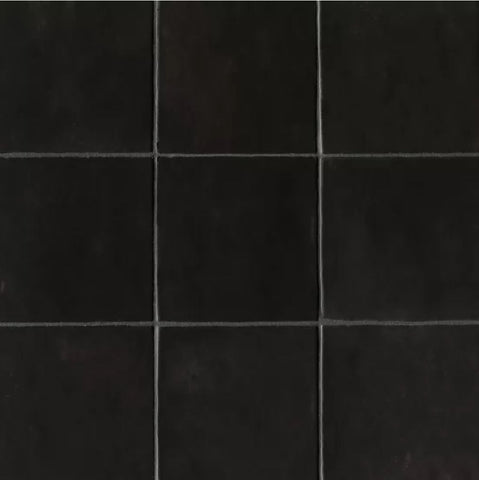 "Ceramic Cloe 5"" x 5"" Wall Tile in Black"