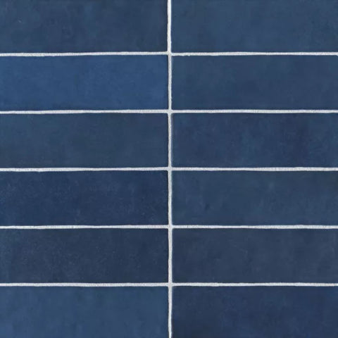 "Ceramic Cloe 2.5"" x 8"" Wall Tile in Blue"