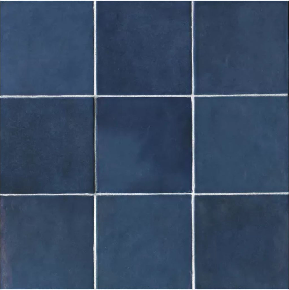 "Ceramic Cloe 5"" x 5"" Wall Tile in Blue"