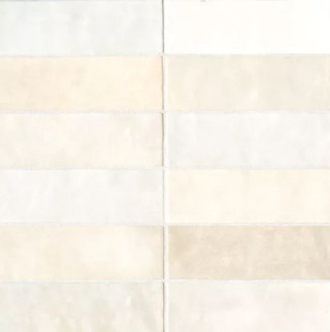 "Ceramic Cloe 2.5"" x 8"" Wall Tile in Creme"