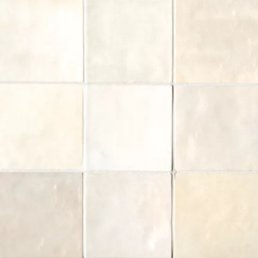 "Ceramic Cloe 5"" x 5"" Wall Tile in Creme"