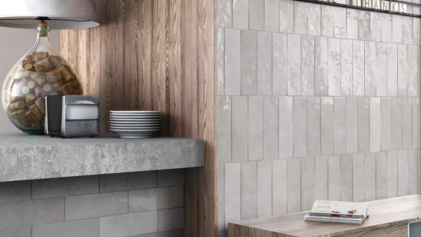 Ceramic Cloe 2 5 Quot X 8 Quot Wall Tile In Grey Exfloorit Tiles
