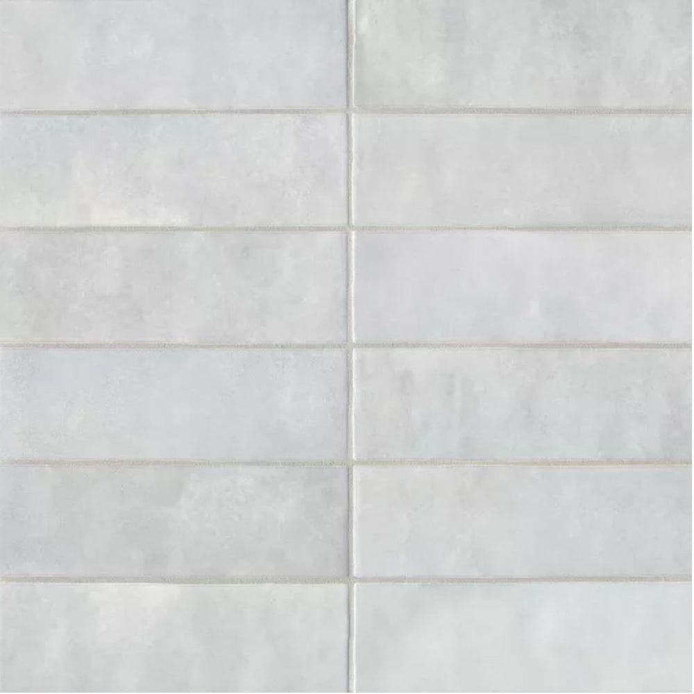 "Ceramic Cloe 2.5"" x 8"" Wall Tile in Grey"