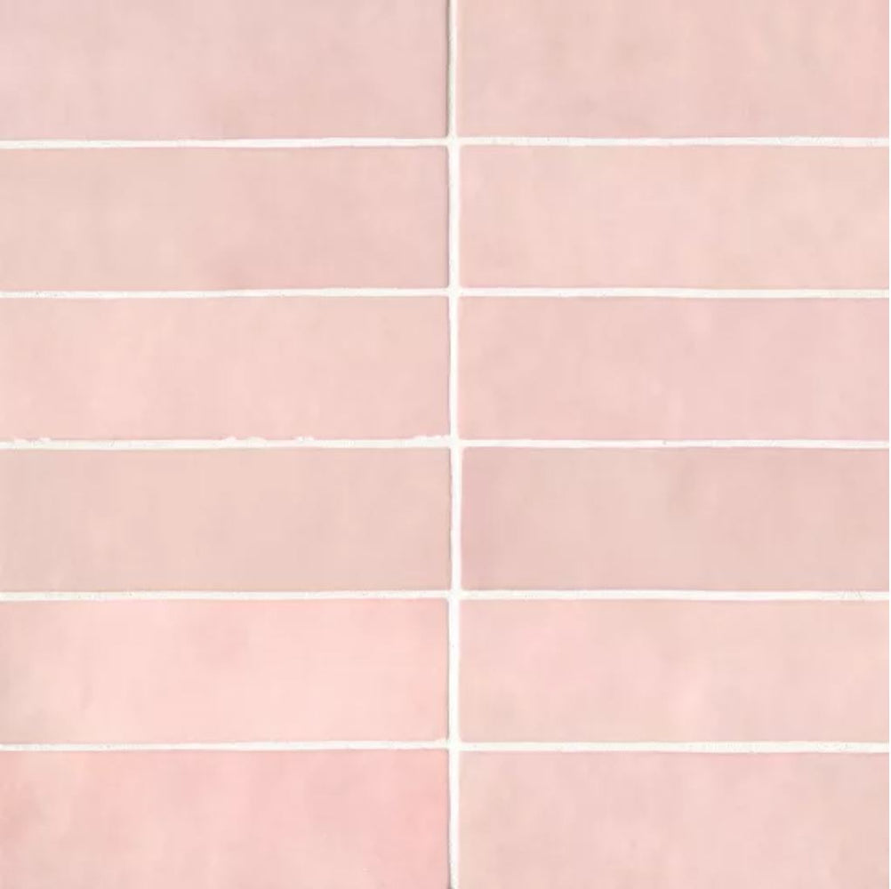 "Ceramic Cloe 2.5"" x 8"" Wall Tile in Pink"