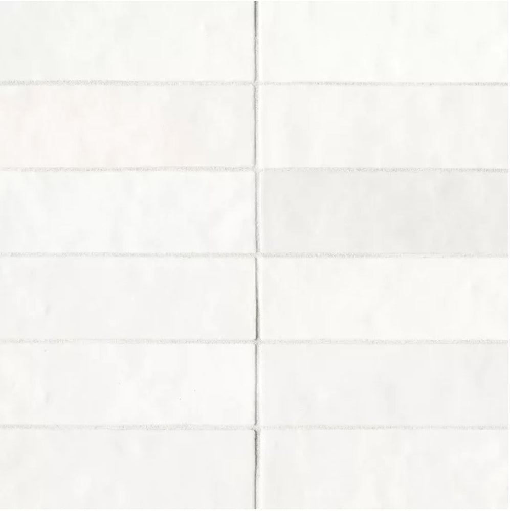 "Ceramic Cloe 2.5"" x 8"" Wall Tile in White"