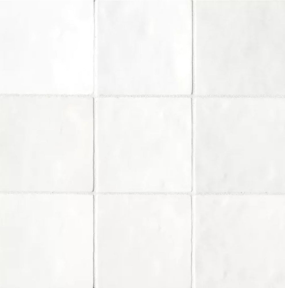 "Ceramic Cloe 5"" x 5"" Wall Tile in White"
