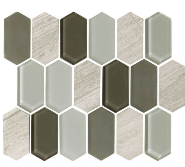 Alair Slate Glass & Stone Mosaic