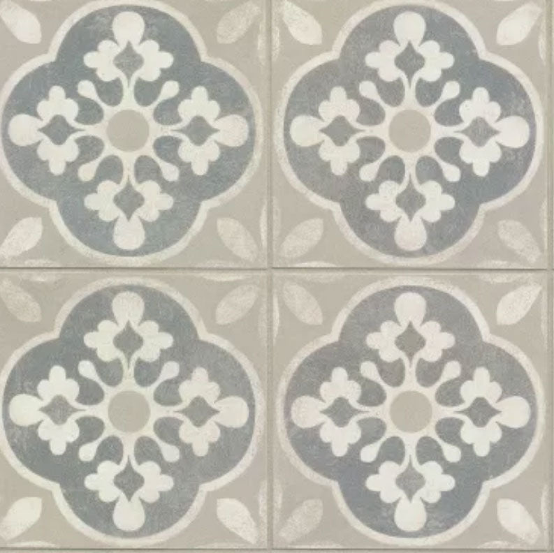 "Enchant Porcelain Encaustic Look Tile 8""x8"""