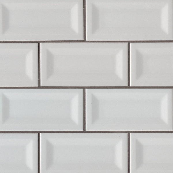 Inverted Bevel Ceramic Subway Tile 3X6