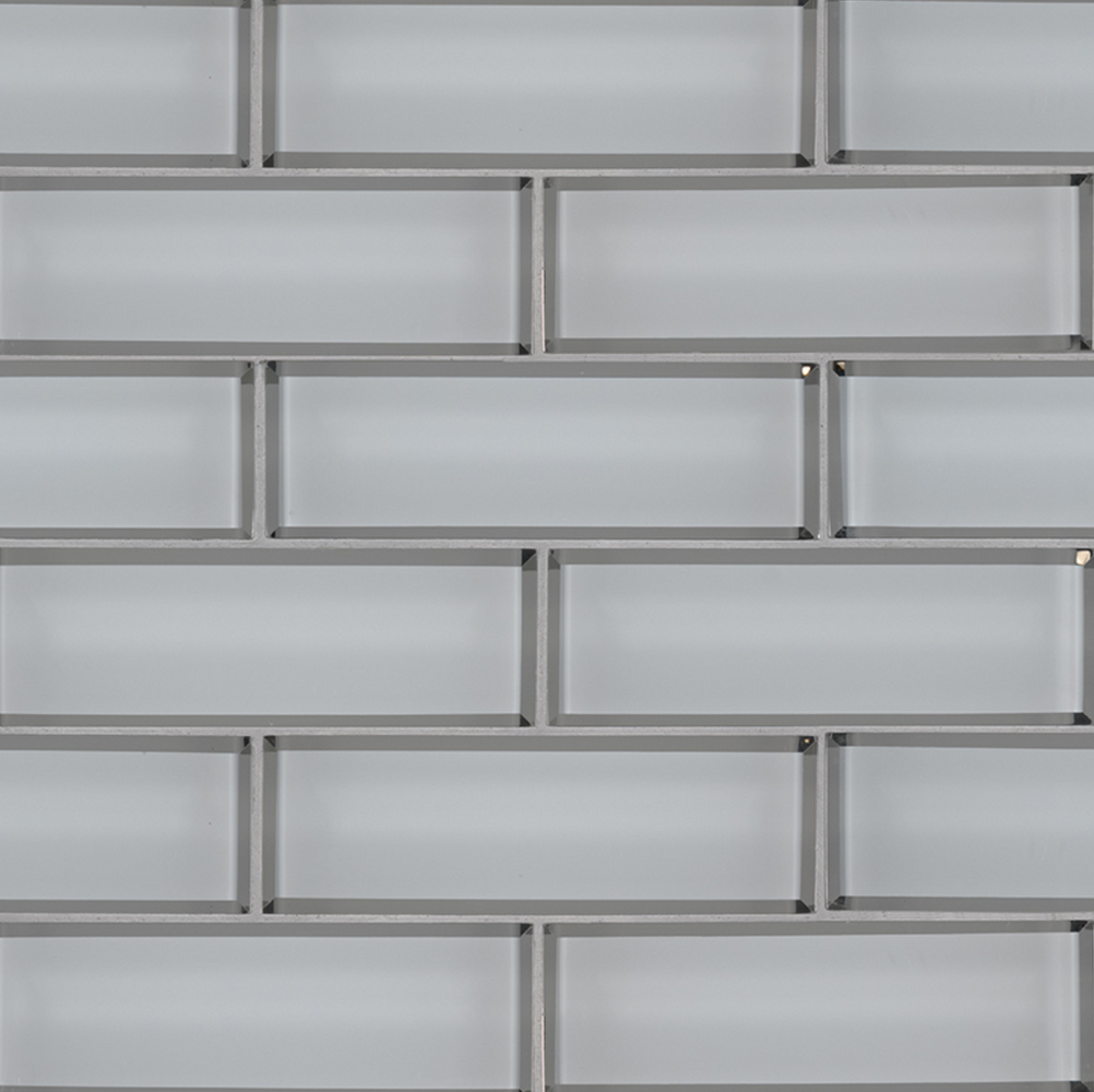 Ice Bevel Glass Subway Mosaic