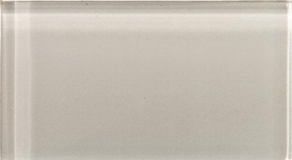 Lucente Morning Fog Glass Subway Tile 3x6