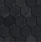 Basalt Black Hexagon Honed Mosaic