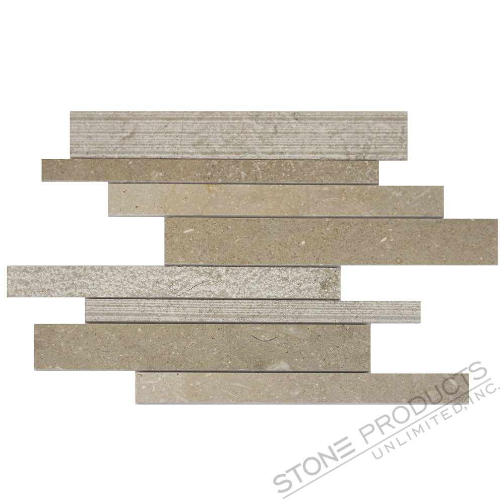 Seagrass Limestone Linear Offset Mosaic
