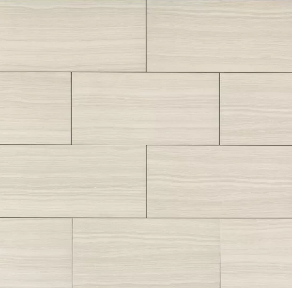 Matrix Bright Porcelain Travertine Look Tile 18X36