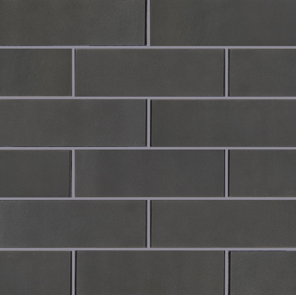Metallic Grey Glass Subway Tile 4X12