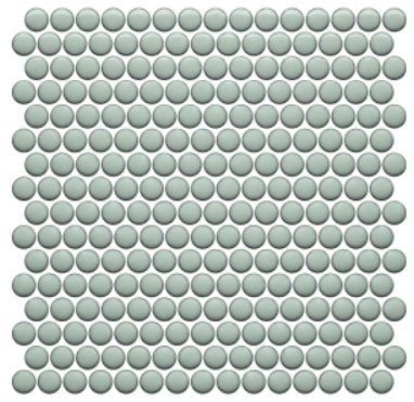 Mint Glossy Penny Rounds Mosaic