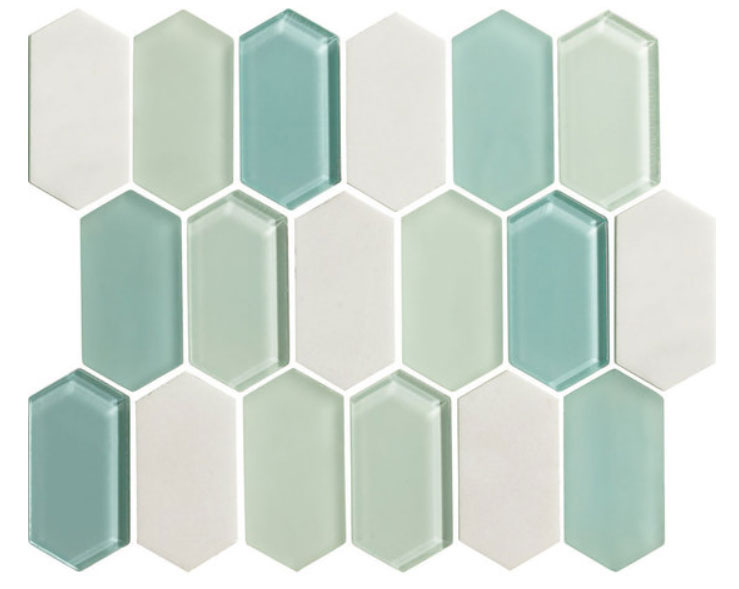 Alair Mint Glass & Stone Mosaic