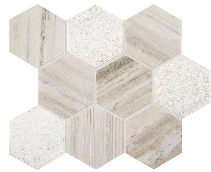 Open Horizon Hexagon Stone Mosaic
