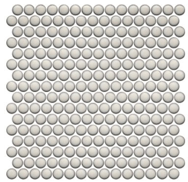 Pearl Glossy Penny Rounds Mosaic