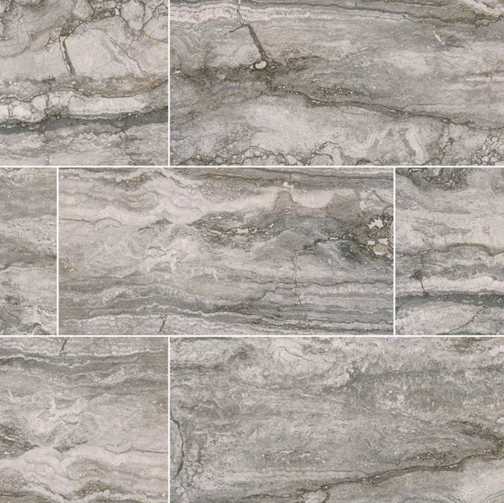 Pietra Bernini Carbone Matte Porcelain Travertine Look Tile