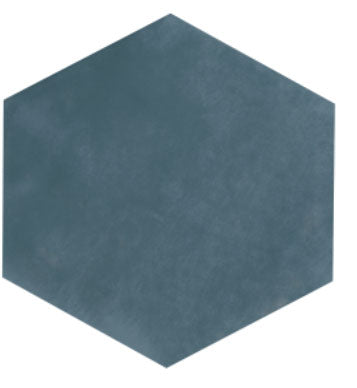 Maiolica Steel Blue Hexagon Ceramic Tile