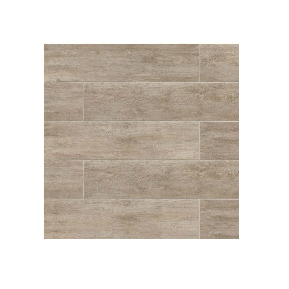 "8"" x 24"" Rectangle River Wood Look Tile Oak 