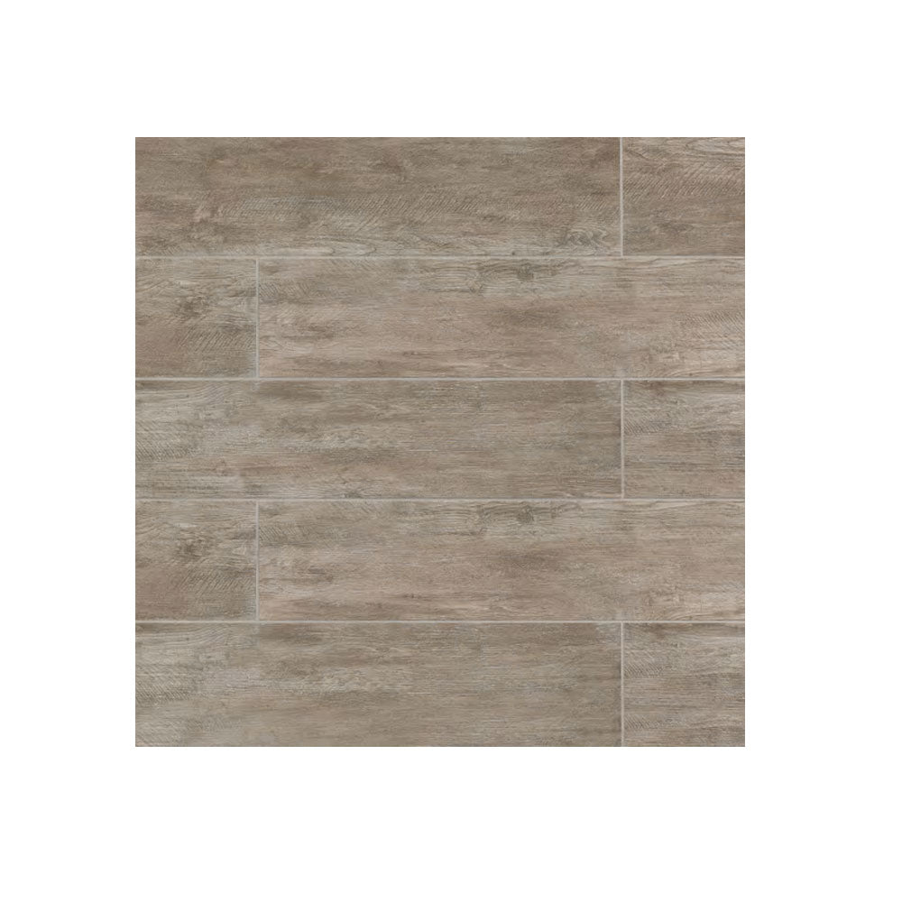"8"" x 24"" Rectangle River Wood Tile Taupe 