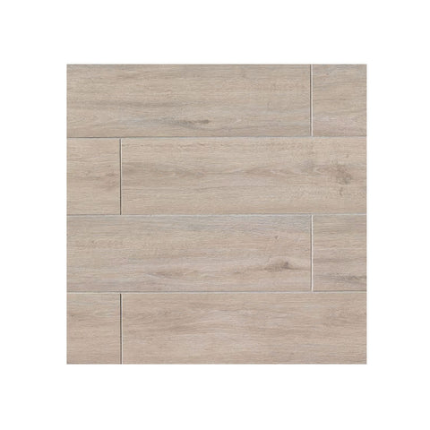"Porcelain Wood Look Tile Titus 8"" x 48"" Beige"
