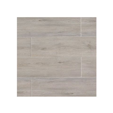"Porcelain Wood Look Tile Titus 8"" x 48"" Gray"