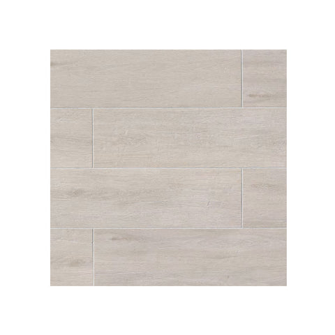 "Porcelain Wood Look Tile Titus 8"" x 48"" White"