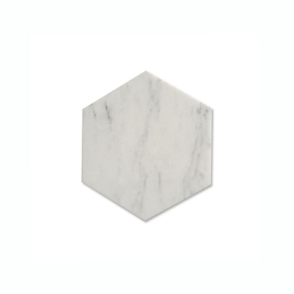 Calacatta Bella Marble Hexagon Tile