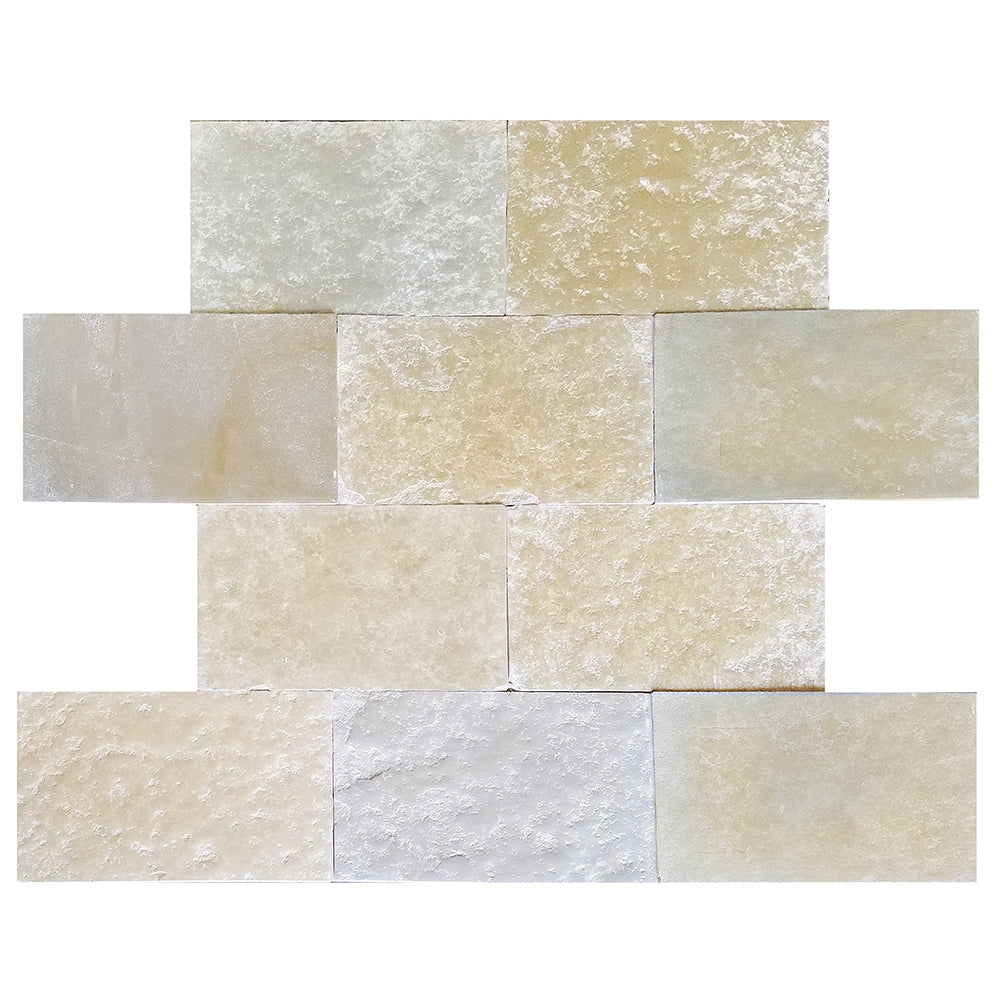 "Europa Limestone Rectangle Toulouse Tile 16""x24"" Aged"