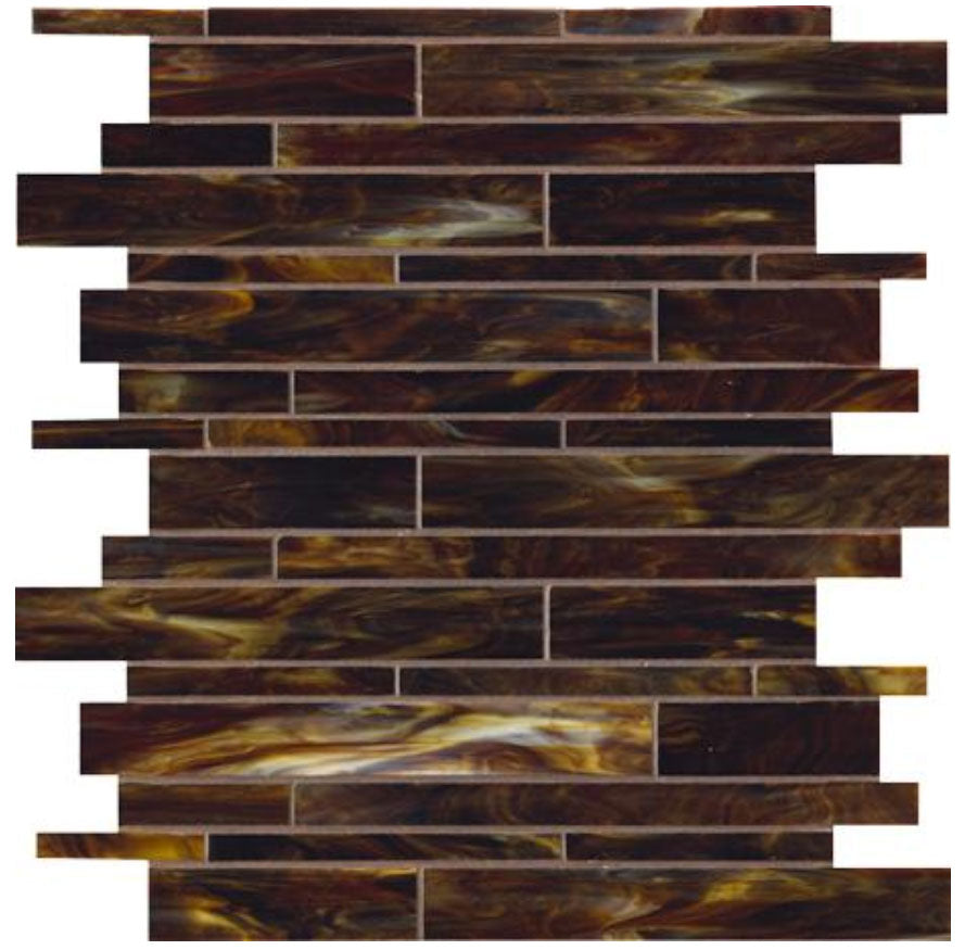 Catwalk Walnut Wedge Glass Mosaic