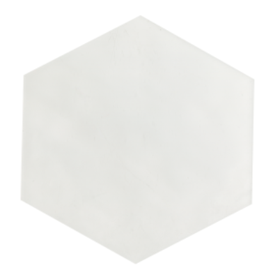 Maiolica White Hexagon Ceramic Tile