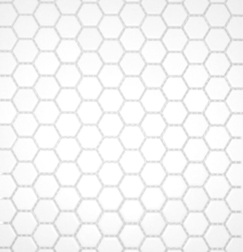 White Matte Porcelain Hexagon Mosaic 12x12
