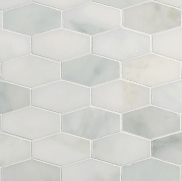 Calacatta Elongated Hexagon Mosaic