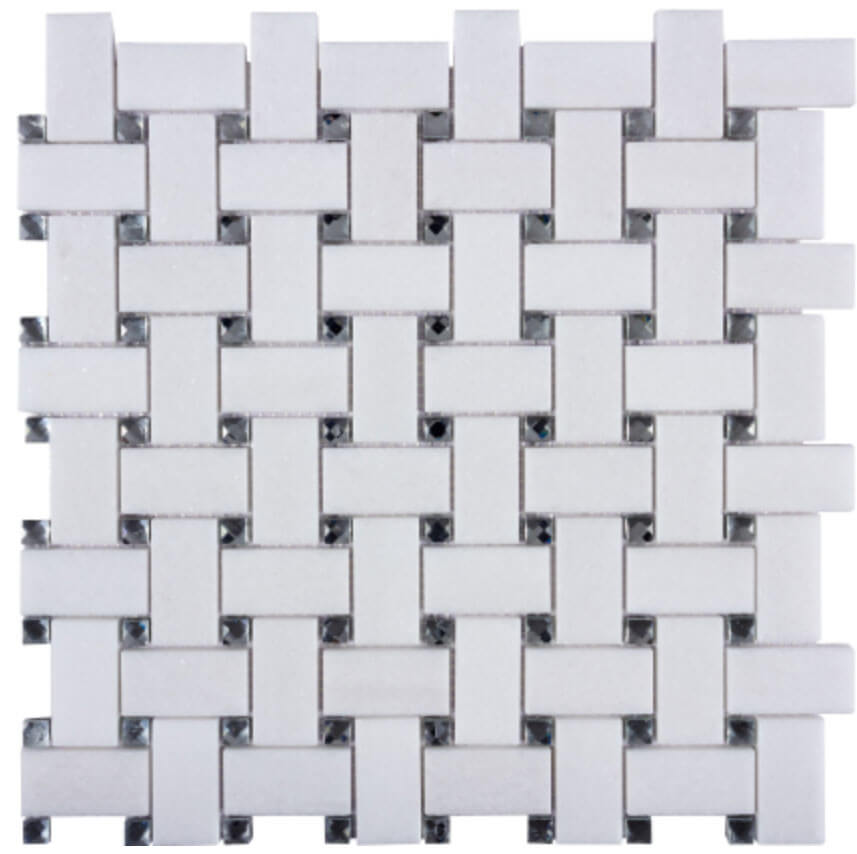 Cross Mixed Basketweave Polished Mosaic