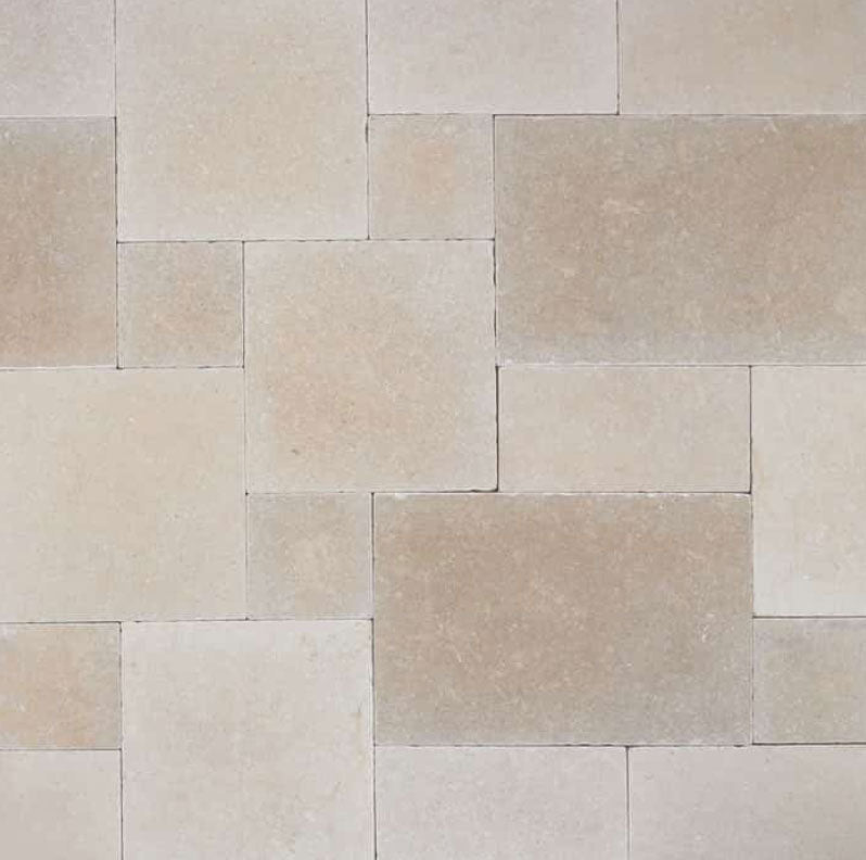 Salem Grey Limestone Tile Pattern