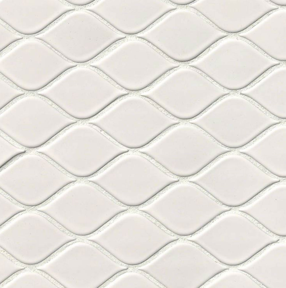 White Tear Drop Glossy Ceramic Mosaic